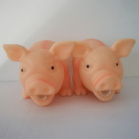 rubber high quality vent toys squeeze pig