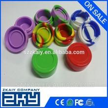Food grade non stick custom silicone jars silicone wax container