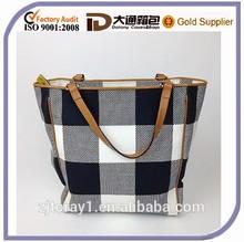 Black /White Patchwork Handbag Fabric Shoulder Messenger Tote Bag