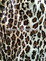 Cotton Animal Printed Velvet Fabric For Garment