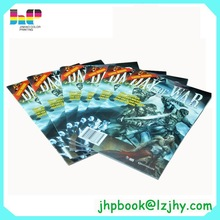 China Cheap Softcover Saddle Stiched Full Color Book Comic Book Printing