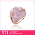Joyas baratas 2014 Anillo a la moda con gran piedra, hecho en China la última joya anillo de oro