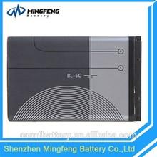 Best Sale 1050mah Li -ion Phone Battery BL-5C for Nokia Cellphone