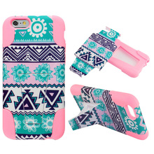 new product for apple iphone 6 case, combine cell phone case with flower design