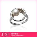 Artesanal de jóias por atacado China 925 de prata China CZ anéis jóias, Pérola anéis de grife para adolescentes