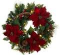 Natal coroa de flores/guirlanda decoratioln com flor