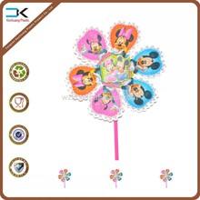 2015 hot sale home decoration windmill, toy pinwheel, plastic pinwheel