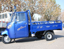 2015 hot 200cc 4 stroker Van cargo tricycle with cabin water-cooled
