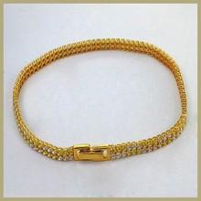 Bangkok Thailand brass hand chain cubic zirconia stone bracelet