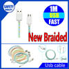 New products of cell phone accessory nylon braided usb charger cable