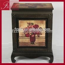 Antique Wooden Decorative Rose Cabinet