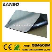 accept OEM and ODM butyl rubber + aluminum foil car sound proof