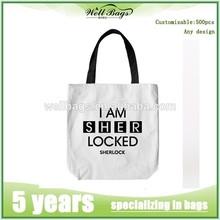 Fashion cotton shopping bags,cotton bag with printed logo