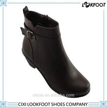 Venda quente de salto alto zipper ankle boots inverno as mulheres sapato casual