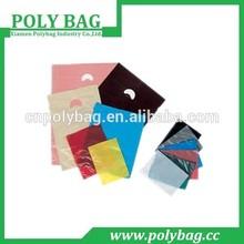 plastic cartoon die cut handle plastic bags custom made for shopping