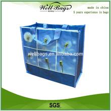 Printed pp woven bag with nylon webbing handle,bopp laminated pp woven bag