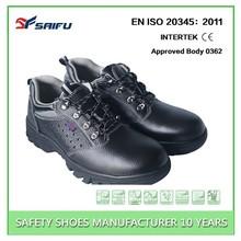Anti slip shoes SF5502 low cut black barton buffalo safety shoes dubai