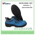 genuíno couro azul antiestático sf1803 homens e senhoras sapatos de segurança