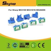 MX3100 toner cartridge reset chip for Sharp MX3101N MX2600N MX3100N MX3101 MX2600 K/C/M/Y 19K