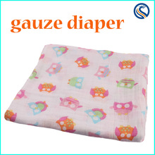 2015 new happy flute 100% cotton gauze diapers