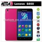 Original New Lenovo S850 3G Smartphone MTK6582 Quad Core Android 4.4 1G RAM 16G ROM IPS Dual Sim Dual Camera 13.0MP Smart Phone