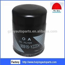 Filtro de aceite 90915-yzzd4 para toyota hiace