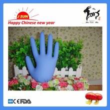 Disposable nitrile gloves blue color