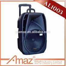 LED light mp3 music SD card 10 inch professional usb trolley speaker