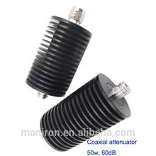 RF Coaxial Attenuator , DC-3GHz/ attenuation 60dB 50W Watt,IBS,BTS,DAS
