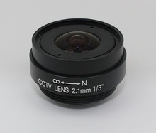 All metal 140 degree wide angle cctv Lens focal length 2.1mm aperture F2.0 Fixed Iris 1/3 ccd sensor image mount CS Lens