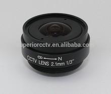 All metal 140 degree wide angle cctv Lens focal length 2.1mm aperture F2.0 Fixed Iris 1/3 ccd sensor image mount CS Lens