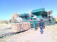 Hydraulic Horizontal hay and straw baler machine,pine straw baling press ,rice straw baler machine YB4-80T