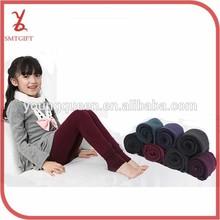 SW14 Kids 2015 Colorful autumn/winter thick cotton velvet seamless step foot warm girls leggings