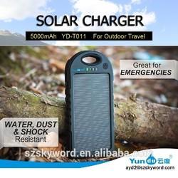 Solar power bank backup battery for cell phone