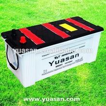 Yuasan Newest 12V150AH DIN Lead Acid Dry Batteries with Strong Glass Fiber Separators--65031(12V150AH)