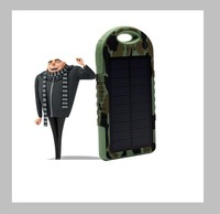 12000mah portable hot selling Camouflage solar phone chargers for samsung galaxy s4