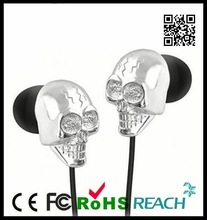 metal earphones,skull earbuds, cartoon headphones,