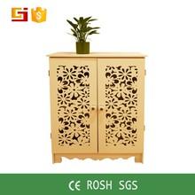 Hollowing carve portable plastic modern cabinet design furniture