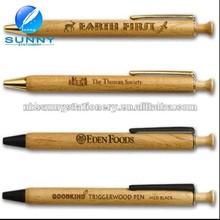 attractive hot retractable wooden ball pen