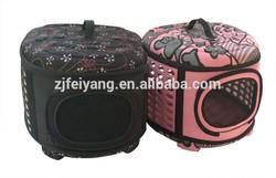 EVA manufacturer durable lightweight fold carrier dog pet transport bag