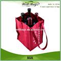 Vino de pp no tejido bolso de mano, botella de vino bolsa de regalo, tela bolsa de compras
