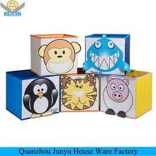 Foldable nonwoven kids cartoon storage box
