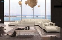 2015 Modern leather living room sofa set furniture
