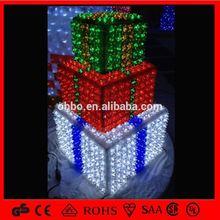 led christmas decoration New 2013 Holiday LED light christmas gift box lights Outdoor Wall Solar Led Light