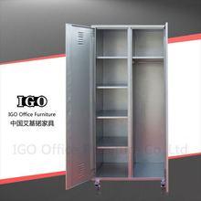 IGO-Furniture 2 door cupboard,steel wardrobe cabinet living room shoes iron and steel wardrobe manufacturer