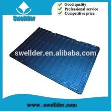 OEM blue color blister plastic pack tray