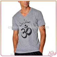 2015 High quality new design V-neck men fashion t shirt