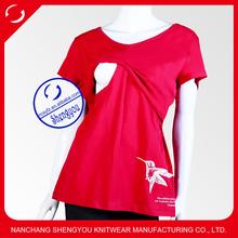 custom Short sleeve maternity breastfeeding nursing clothing wholesale china