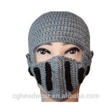 High Quality Pom Pom Cheap Custom beanie hat / knit hat / pattern knit hat knight helmet