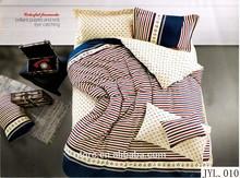 3d stripe printed luxury duvet set 100% cotton king size cheap bed sheet sets india wedding comforter cover bedding